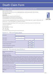 Death Claim Form - Irish Life