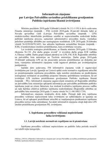Informatīvais ziņojums par Latvijas Pašvaldību savienības ...