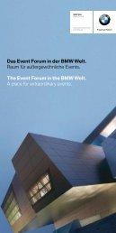 Das Event Forum in der BMW Welt. Raum für außergewöhnliche Events ...
