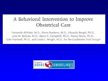 Buekens & Althabe, A Behavior Intervention to Improve Obstetrical ...