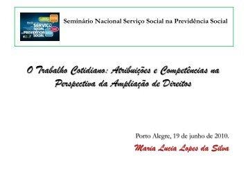 Baixe a apresentação em slides de Maria Lúcia Lopes - CFESS