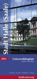 2004 Stadtsanierung Universitätsplatz - Stadt Halle (Saale)