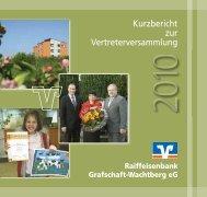 Kurzbericht 2009.pdf - Raiffeisenbank Grafschaft-Wachtberg eG