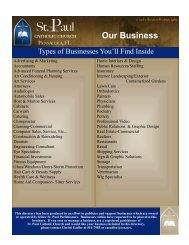 Business Directory - St. Paul Catholic Church