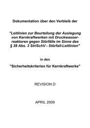 Leitlinien zur Beurteilung der Auslegung von Kernkraftwerken mit ...