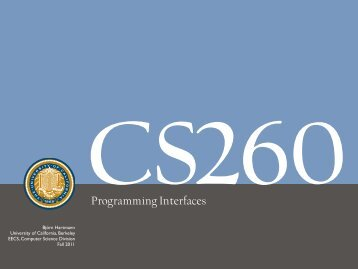 Programming Interfaces - University of California, Berkeley