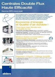 Centrales Double Flux Haute Efficacité - Aldes