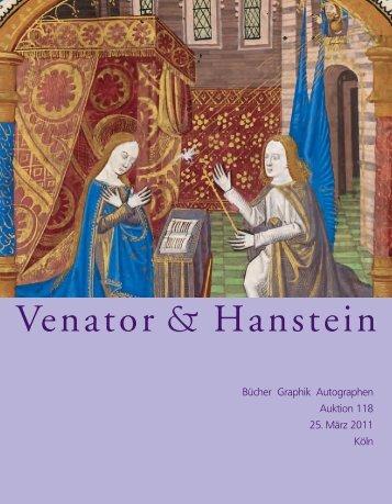 Katalog 118 (März 2011) (Druckversion) 5,02 MB - Venator & Hanstein