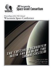Space Grant Consortium - University of Wisconsin  - Green Bay