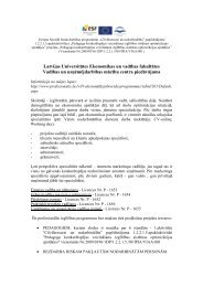 LU EVF Vadības un uzņēmējdarbības mācību centra piedāvājums