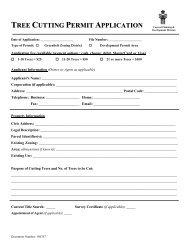 TREE CUTTING PERMIT APPLICATION - City of Prince George