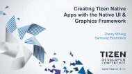 Creating Tizen Native Apps with the Native UI & Graphics Framework