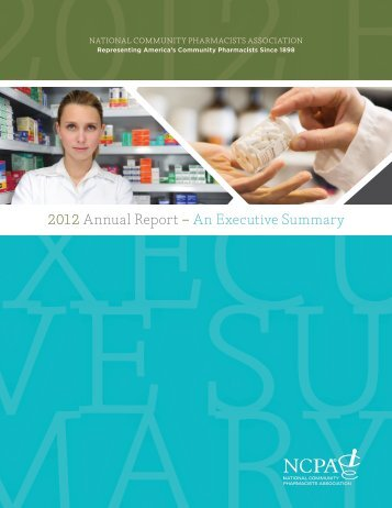 2012 Annual Report - National Community Pharmacists Association