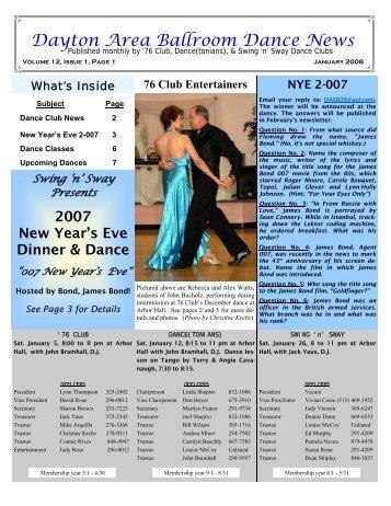 12 01January2008Newsletter - Ballroom Dance Dayton