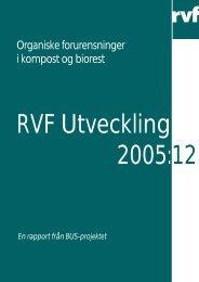 10. Organiske forurensninger i kompost og biorest - Avfall Sverige