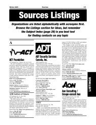 Sources 55 - Listings A - B