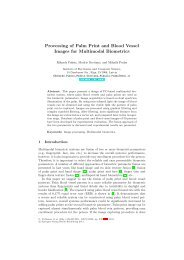 Processing of Palm Print and Blood Vessel Images for ... - Research