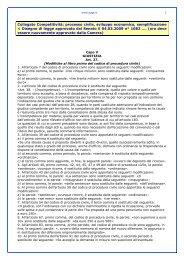 Collegato Competitività: processo civile, sviluppo economico ...
