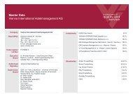 Master Data - Vienna International Hotelmanagement AG