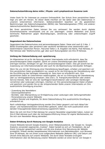 Download Datenschutzerklärung (PDF) - deine mitte | Physio- und ...