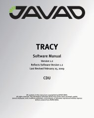 Tracy CDU Software Manual