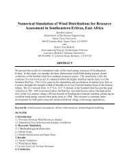 Numerical Simulation of Wind Distributions for Resource ...