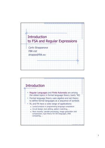 FSA, regular expressions and tokenization - PEOPLE