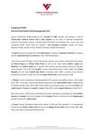 Company profile download (pdf) - Vienna International ...