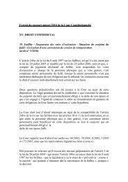 Extrait du rapport annuel 2010 de la Cour Constitutionnelle - Juridat