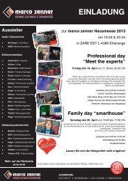 Einladung und Programm Hausmesse (PDF) - Smarthouse.lu