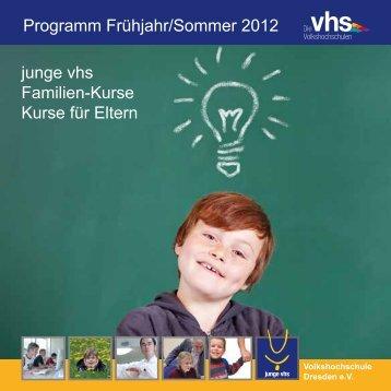 """""""junge vhs, Familenkurse, Eltern-Uni"""" (PDF, 1 - Volkshochschule ..."""