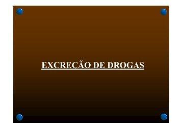 EXCREÇÃO DE DROGAS - Palestras Diversas