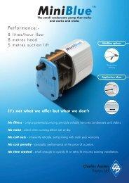 Mini Blue Condensate Pumps - Airskill