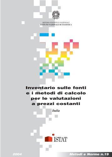 Calcolo degli spostamenti mediante il metodo degli for Calcolo istat