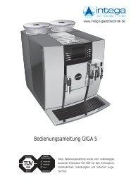Bedienungsanleitung GIGA 5 - Jura