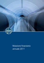 (PDF:) Relazione finanziaria annuale 2011 - Snam