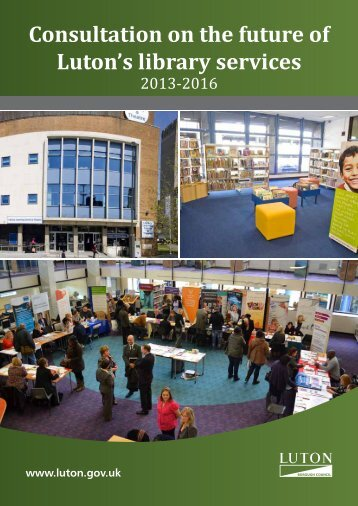 Consultation on the future of Luton's library services - Luton Borough ...