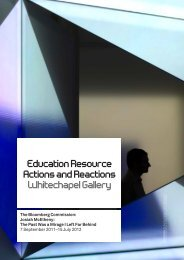 Education Resource Actions and Reactions Whitechapel Gallery
