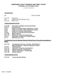 HAMPSHIRE COUNTY PROBATE AND FAMILY COURT Printable ...