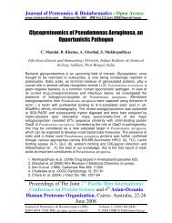 Glycoproteomics of Pseudomonas Aeruginosa, an ... - OMICS Group