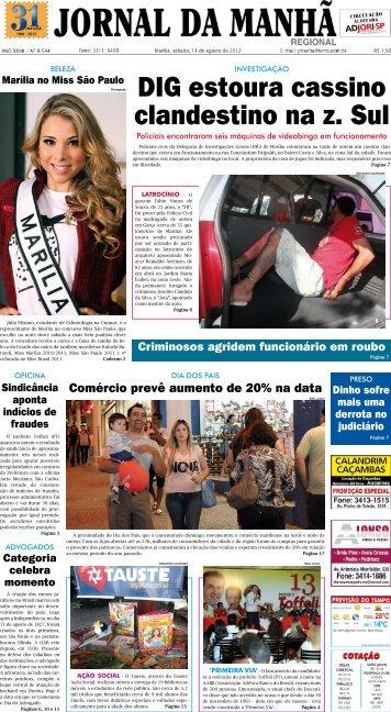 DIG estoura cassino clandestino na z. Sul - Jornal da Manhã