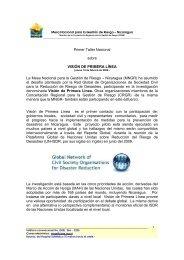 Primer Taller Nacional sobre VISIÓN DE PRIMERA LÍNEA ... - CISAS
