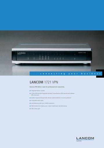 LANCOM 1721 VPN - BauschDatacom.nl