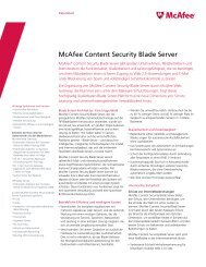 McAfee Content Security Blade Server