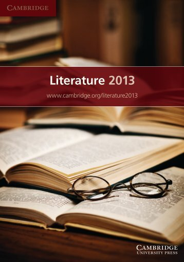 Literature 2013 - Cambridge University Press India