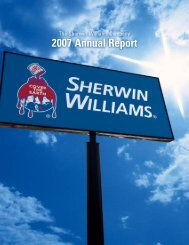 2007 Annual Report - Investor Relations - Sherwin-Williams