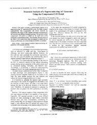 Transient analysis of a superconducting AC generator ... - IEEE Xplore