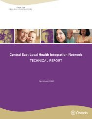 Chapters 1-3 - Central East Local Health Integration Network