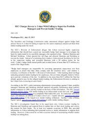 SEC vs Cohen Press Release - Frank-CS.org