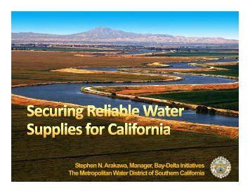 Stephen N. Arakawa, Manager, Bay-Delta Initiatives The ...